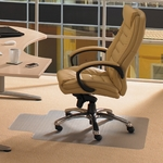 45''W x 53''L Cleartex Advantagemat Chairmat with Lip for Standard Pile Carpets 3/8'' or less [11341526LV-FS-FTX]