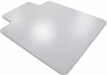 48''W x 60''L Cleartex Advantagemat PVC Rectangular Chairmat with Lip for Standard Pile Carpets 3/8'' or Less [1115226LV-FS-FTX]