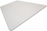 48''W x 60''L Cleartex Advantagemat PVC Triangular Chairmat for Medium Pile Carpets 3/4'' or Less Size [1115230TR-FS-FTX]