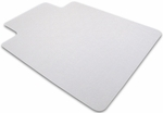 35''W x 47''L Cleartex Polycarbonate Rectangular General Office Mat with Lip for Hard Floors and Carpet Tiles [128919LR-FS-FTX]