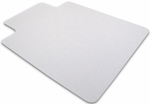 48''W x 60''L Cleartex Rectangular Polycarbonate General Office Mat with Lip for Hard Floors and Carpet Tiles [1215219LR-FS-FTX]