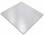 48''W x 48''L Cleartex Polycarbonate Square General Office Mat for Hard Floors and Carpet Tiles Size [1212119ER-FS-FTX]