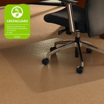 48''W x 60''L Cleartex Ultimat Polycarbonate Corner Workstation Chairmat for Low to Medium Pile Carpets up to 1/2'' [1115023TR-FS-FTX]