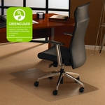 35''W x 47''L Cleartex Ultimat Chairmat with Lip for Low and Medium Pile Carpets up to 1/2'' [118923LR-FS-FTX]