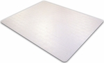 48''W x 53''L Cleartex Ultimat Polycarbonate Rectangular Chairmat for Plush Pile Carpets [1113427ER-FS-FTX]