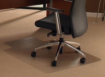 48 39 39 W X 60 39 39 L Cleartex Ultimat Lipped Chairmat For Plush Pile