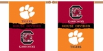 Clemson - S. Carolina 2-Sided 28'' X 40'' Banner with Pole Sleeve House Divided [96252-FS-BSI]