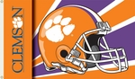 Clemson Tigers 3' X 5' Flag with Grommets - Helmet Design [95325-FS-BSI]