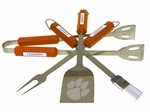 Clemson Tigers 4 Pc Bbq Set [61025-FS-BSI]