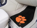 Clemson University Carpet Car Mat 2 Pc 18'' x 27'' [5209-FS-FAN]