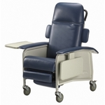 Clinical Recliner with Two Trays and Folding Footrests - 250 lb Capacity [IH6077A-IH61-FS-CARE]