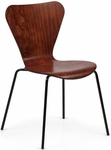 Clover Steel Frame Stacking Chair - Cherry [CL-4-939-FS-ADI]