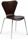 Clover Steel Frame Stacking Chair - Dark Walnut [CL-4-950-FS-ADI]
