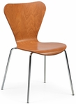 Clover Steel Frame Stacking Chair - Honey Beech [CL-4-755-FS-ADI]