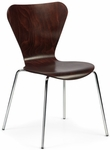 Clover Steel Frame Stacking Chair - Walnut [CL-4-813-FS-ADI]