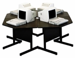 Customizable Cluster Computer Workstation - 27''H [SWC-3647-BKS]