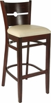 Coin Back Bar Stool in Dark Mahogany Wood Finish [HTG-002-32-DKMHG-HC]