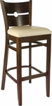 Coin Back Bar Stool in Walnut Wood Finish [HTG-002-32-WNT-HC]