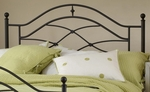 Cole Contemporary Metal Headboard with Rails - Full or Queen - Black Twinkle [1601HFQR-FS-HILL]
