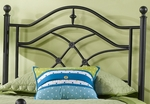Cole Contemporary Metal Headboard with Rails - Twin - Black Twinkle [1601HTWR-FS-HILL]