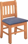 Collegian 12''H Kid Chair with Vertical Slat Back - Oak [1092-FS-CMF]
