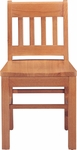 Collegian 14''H Kid Chair with Vertical Slat Back - Oak [1094-FS-CMF]