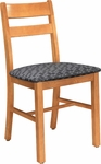 Collegian Wood Chair with Horizontal Slat Back - Oak [1218-FS-CMF]