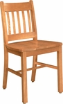 Collegian Wood Chair with Vertical Slat Back - Oak [1098-FS-CMF]