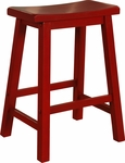 Color Story Crimson Red Counter Stool [286-430-FS-PO]