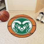 Colorado State University Basketball Mat 27'' Diameter - Mascot Design [4979-FS-FAN]