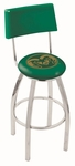 Colorado State University 25'' Chrome Finish Swivel Counter Height Stool with Cushioned Back [L8C425COLOST-FS-HOB]