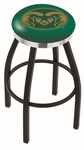 Colorado State University 25'' Black Wrinkle Finish Swivel Backless Counter Height Stool with Chrome Accent Ring [L8B2C25COLOST-FS-HOB]