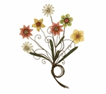 Bronze Oil Rubbed Metal Flowers with Stem Knots 36''H Wall Decor - Multicolor [2169-FS-PAS]
