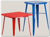 Colorful Metal Tables