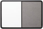 Ingenuity 36'' W x 24'' H Dry Erase and Fabric Board Combo - Black Frame [36031-ICE]