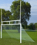Combination Soccer and Football In-Ground Aluminum Goals [SC2480IGAFB-BIS]