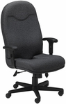 Comfort High Back Executive Chair with Adjustable Seat and Back Height - Gray Fabric [9413AG2110-FS-MAY]