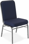 Comfort Class 300 lb. Capacity Stack Chair - Navy Fabric [300-SV-804-MFO]
