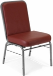 Comfort Class 300 lb. Capacity Anti-Microbial and Anti-Bacterial Vinyl Stack Chair - Wine [300-SV-VAM-603-MFO]