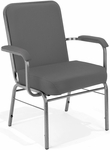 Comfort Class Big & Tall 500 lb. Capacity Stack Chair with Arms - Gray Fabric [300-XL-801-MFO]