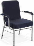 Comfort Class Big & Tall 500 lb. Capacity Arm Stack Chair - Pinpoint Navy Fabric [300-XL-3145-MFO]