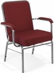 Comfort Class Big & Tall 500 lb. Capacity Stack Chair with Arms - Wine Fabric [300-XL-803-MFO]