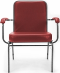 Comfort Class Big & Tall 500 lb. Capacity Anti-Microbial and Anti-Bacterial Vinyl Stack Chair with Arms- Wine [300-XL-VAM-603-MFO]