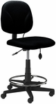 Comfort Series Quick Ship Height Adjustable Swivel Task Stool - Black [4005AG2113-FS-MAY]