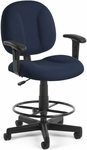 Comfort Superchair with Arms and Drafting Kit - Navy [105-AA-DK-804-FS-MFO]