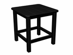 POLYWOOD® Commercial Collection Seashell Side Table - Black [SH18BL-FS-PD]