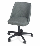 Swivel Bucket Armless Club Chair with Casters - 17''W [28K-88-MPL]