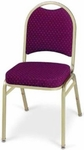 Prestige Banquet Stack Chair with Waterfall Style Seat - Crescent Back [1910-MPL]