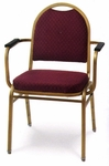 Prestige Heavy Duty Stack Chair with Arms - 24.5''W [1885-MPL]