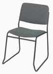 Endurance Contemporary Stack Chair with Contoured Seat - Open Back [2522-MPL]